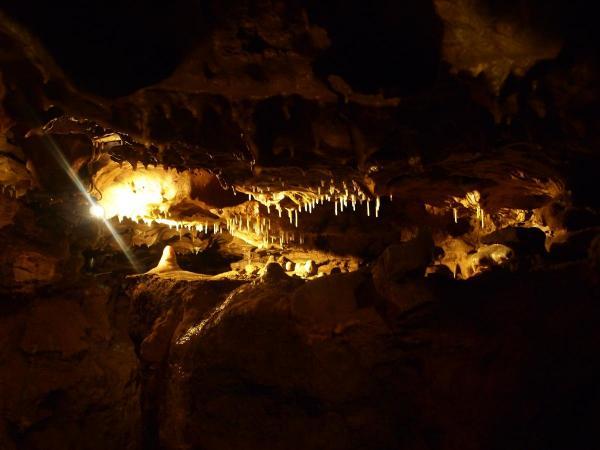 Stalactites & Stalagmites, Crystal Cave, WI